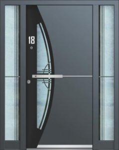Porte d'entrée 3D AA 243