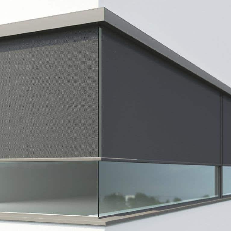Store solaire zipSCREEN angles vitrés à 90