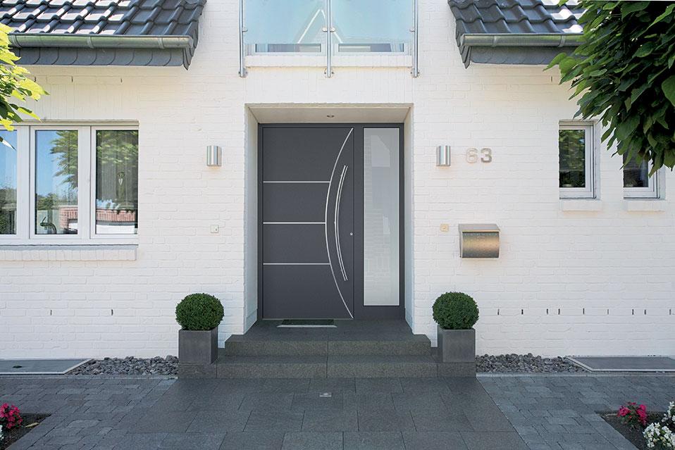 Porte d'entrée aluminium haut de gamme